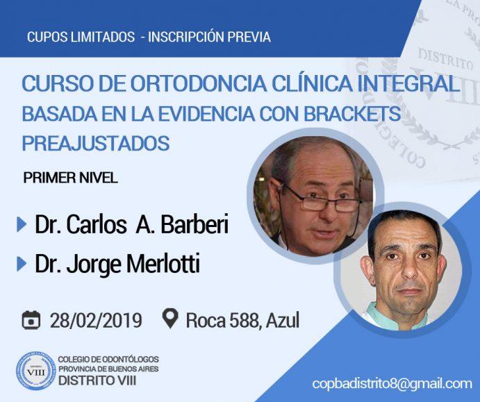 Curso de Ortodoncia Clínica Integral Basada en la Evidencia con Brackets Preajustados (Primer nivel)