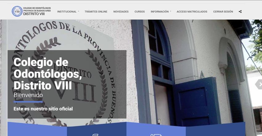 El COPBA Distrito VIII presenta su nuevo sitio web