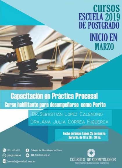 Curso de Auxiliares de la Justicia – PERITOS en el COPBA I