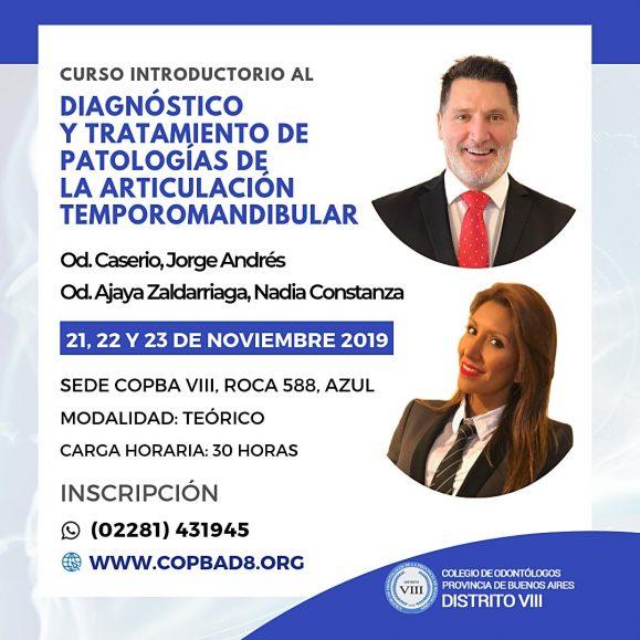 Se dictará en el Colegio un Curso sobre Diagnóstico y Tratamiento de Patologías de la Articulación Temporomandibular
