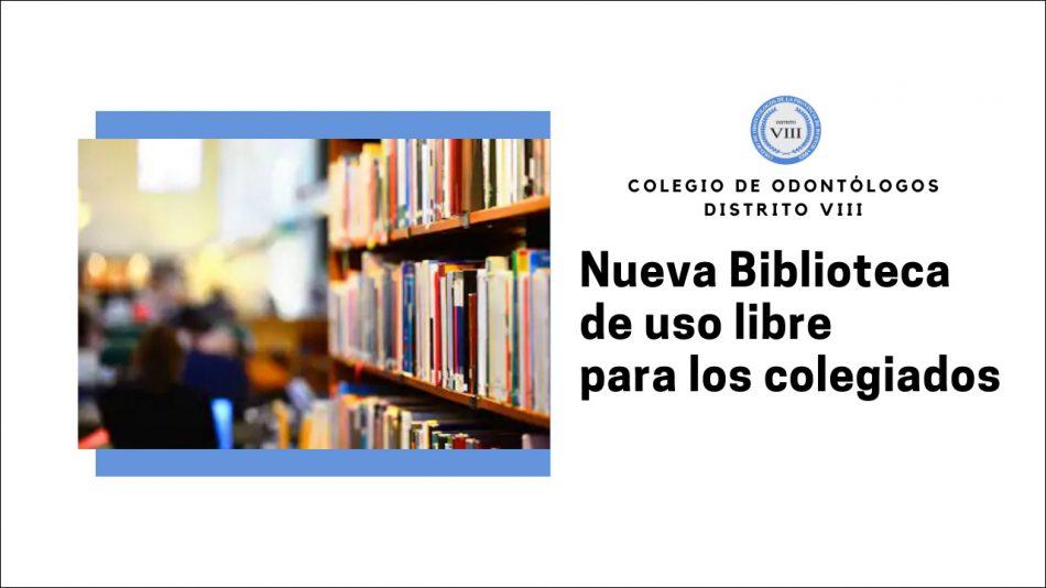 Fundamos una Biblioteca para los colegiados