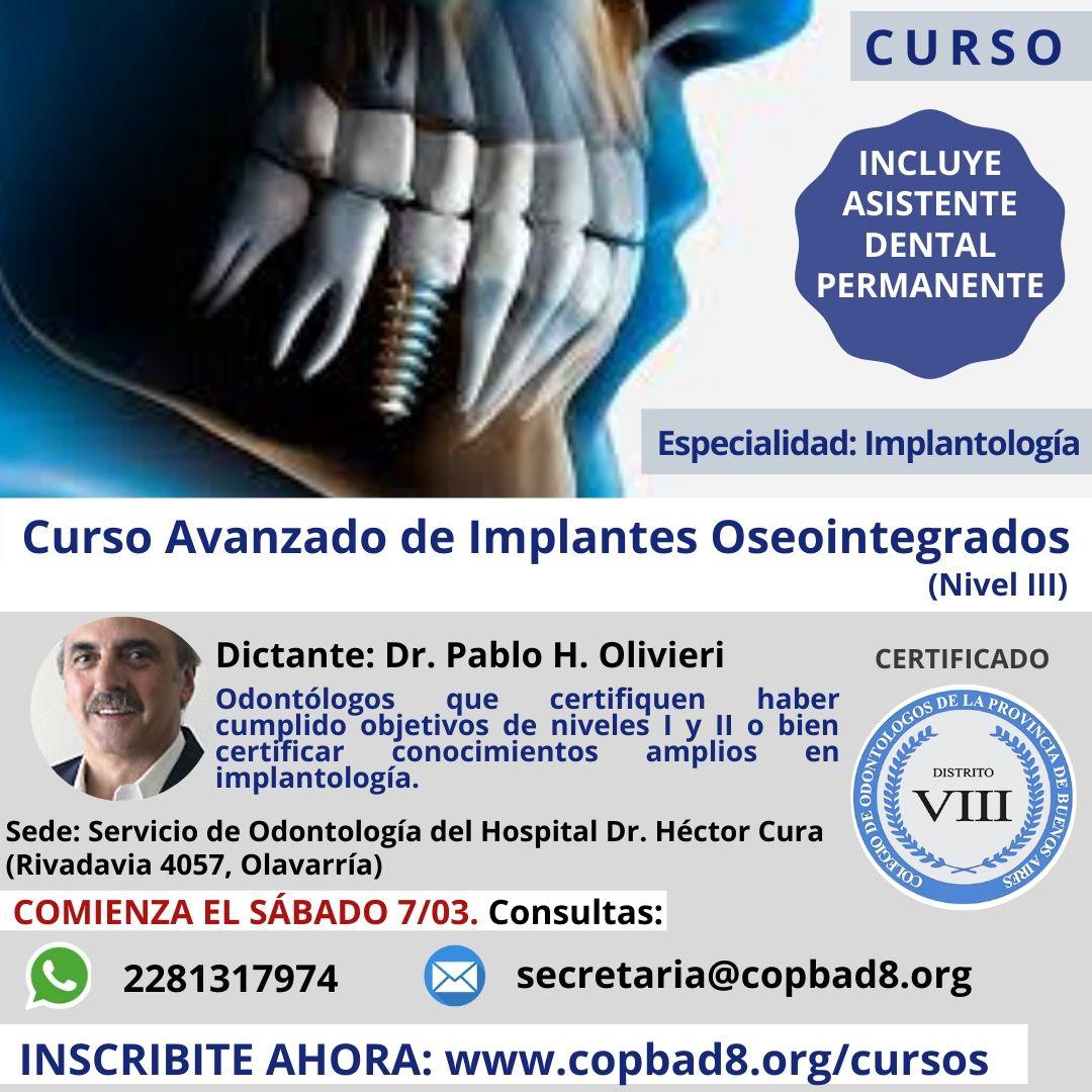 Avanzado de Implantes Oseointegrados – Nivel III