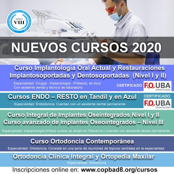 Inscribite: Nuevos cursos 2020