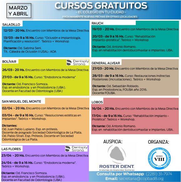 Cursos gratuitos y encuentros en los 14 Partidos del Distrito VIII