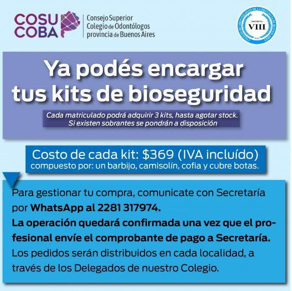 Ya podés pedir tu kit de bioseguridad