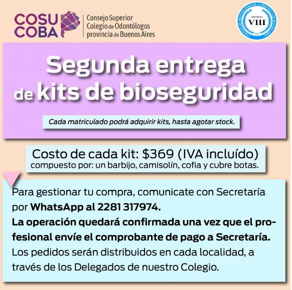 Segunda entrega de Kits de Bioseguridad
