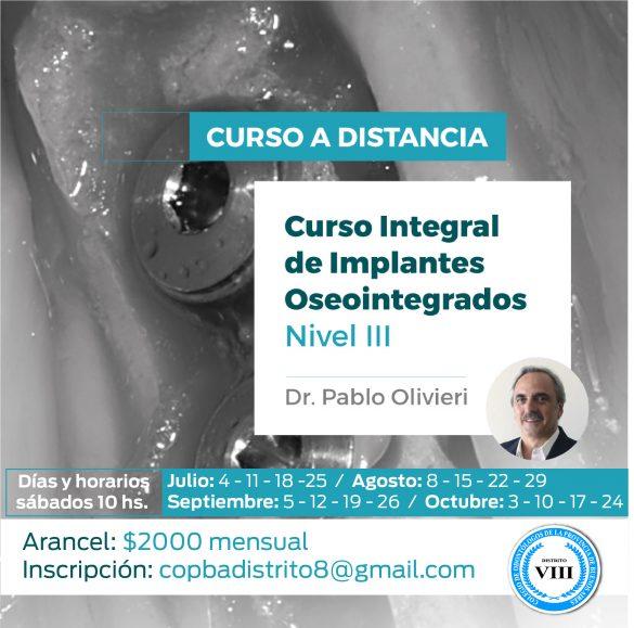 Curso Avanzado de Implantes Oseointegrados. Nivel III
