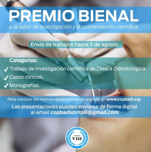 Premio Bienal del Colegio de Odontólogos de la provincia de Buenos Aires