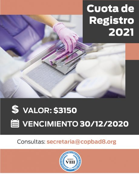 Cuota de REGISTRO 2021