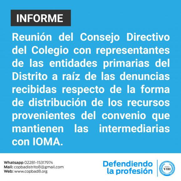 Informe de reunión del Consejo Directivo del Colegio con representantes de las entidades primarias del Distrito