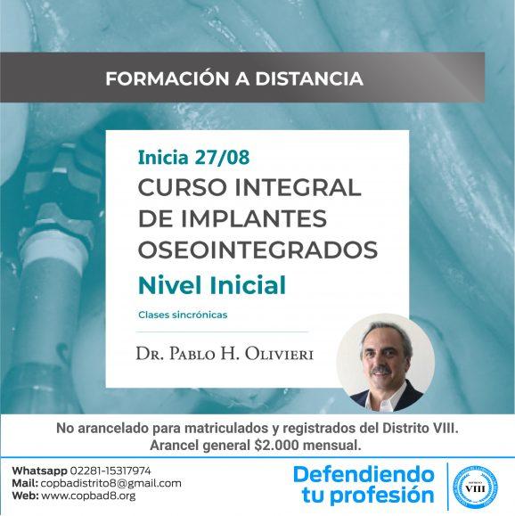 Curso integral de implantes oseointegrados – Nivel Inicial