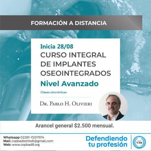 Curso Integral de Implantes Oseointegrados – Nivel Avanzado